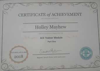 Dog Trainer ACE Sarah Fisher 2018