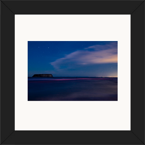 Motunau Island at twilight 24x24 Framed Print