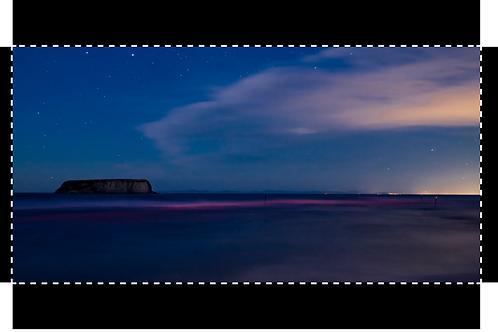 Motunau Island at Twilight 20x10 Canvas