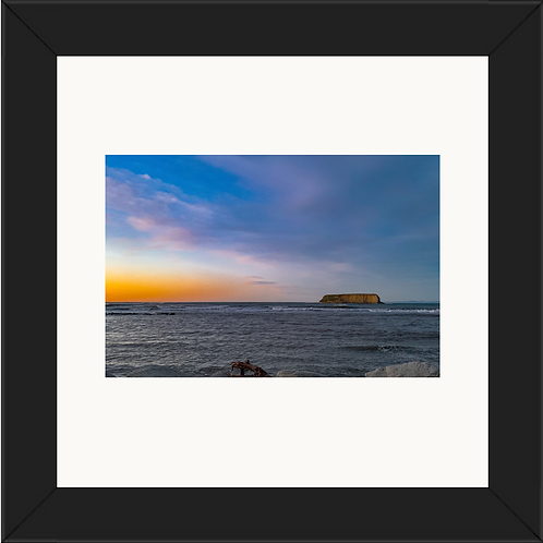 Motunau Island at Dawn 24 x 24 framed Print