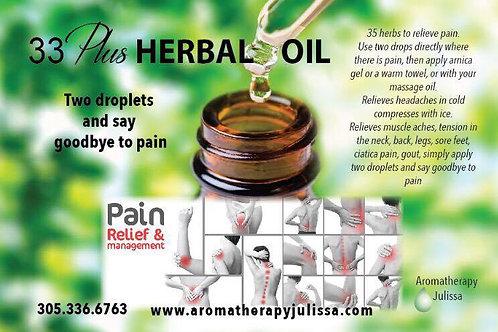 33 Plus Herbal Oil 10ml.