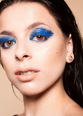 "Photography: Romy Klokker Model: Carolina Altamirano Makeup & Hair: Cristina Rosu  ""Oil Slick"" Masterclass facilitated by Jimmy Stam at Art of Colors Makeup School"