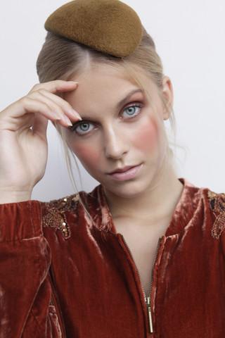 Photography: Nienke Wind Model: Pauley Berends - Agency: Inbetween Models Hat Designer: Demure Amsterdam Makeup & Hair: Cristina Rosu