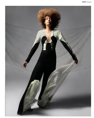 Publication: MOD Magazine  Photography: Sabrina Charehbili Models: Dewi van der Smissen & Dianthel Redmond - Agency: Wkd Model: Dianthel Redmond Designer: Anbasja Blanken Makeup & Hair: Cristina Rosu