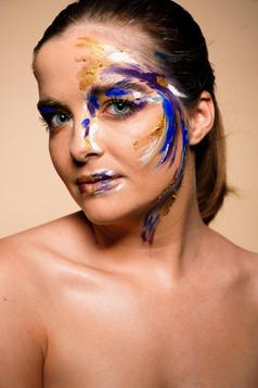 "Photography: Tom Vandewalle Model: Emma van de Wetering Makeup & Hair: Cristina Rosu  ""Art Influences"" Masterclass facilitated by Elke Willemen at Art of Colors Makeup School"