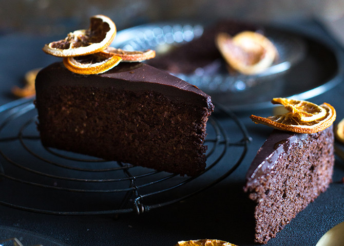 Winter decadence: whole chocolate-orange cake