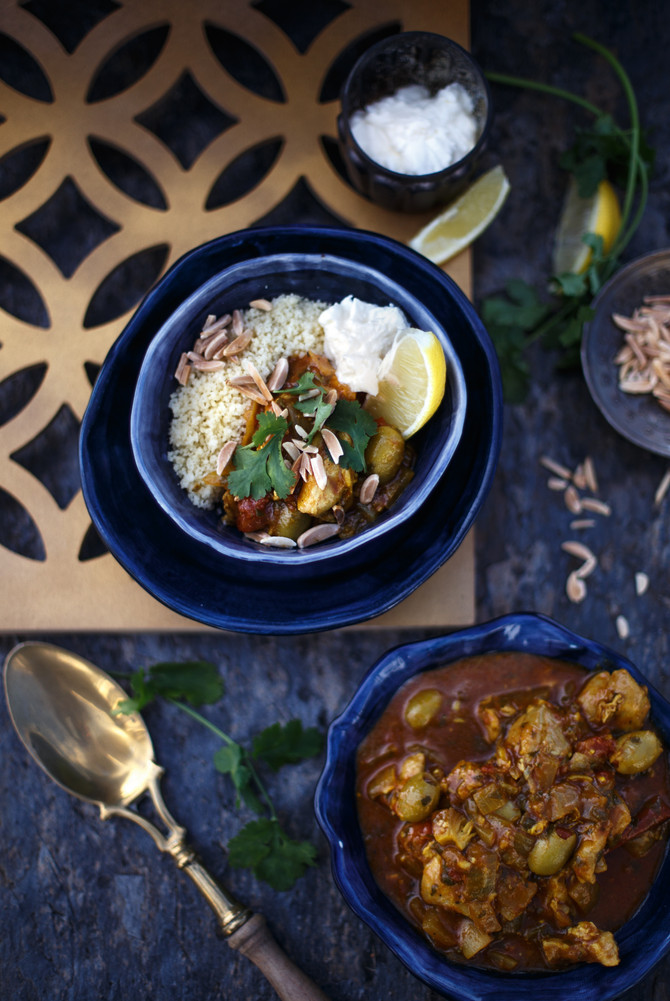 Winter warmer: chicken tagine with green olives and preserved lemon