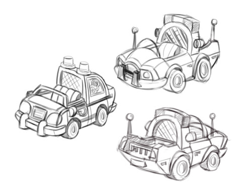 Play Doh Town Police Car Style Study 01