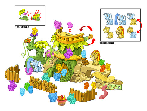 Play Doh Town Zoo Color Study 01.jpg