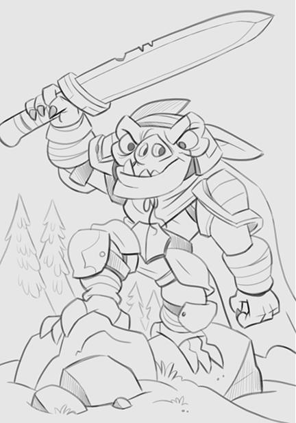 Legendary_Aether_Goblin_Dark_Knight_Sket