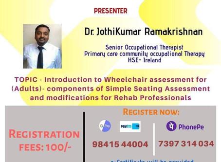 Online Guest Lecture Series - 10 - Webinar on Wheelchair Assessment