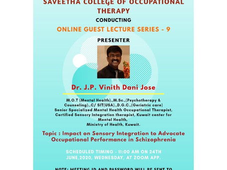 Online Guest lecture 9