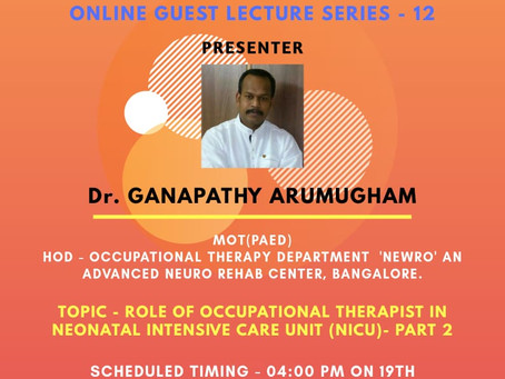 Online Guest Lecture series - 12
