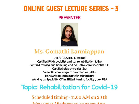 Online Guest Lecture Series - 3