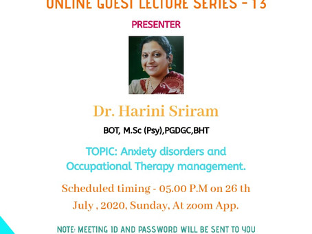 Online Guest Lecture 13