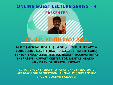 Online Guest Lecture series - 4