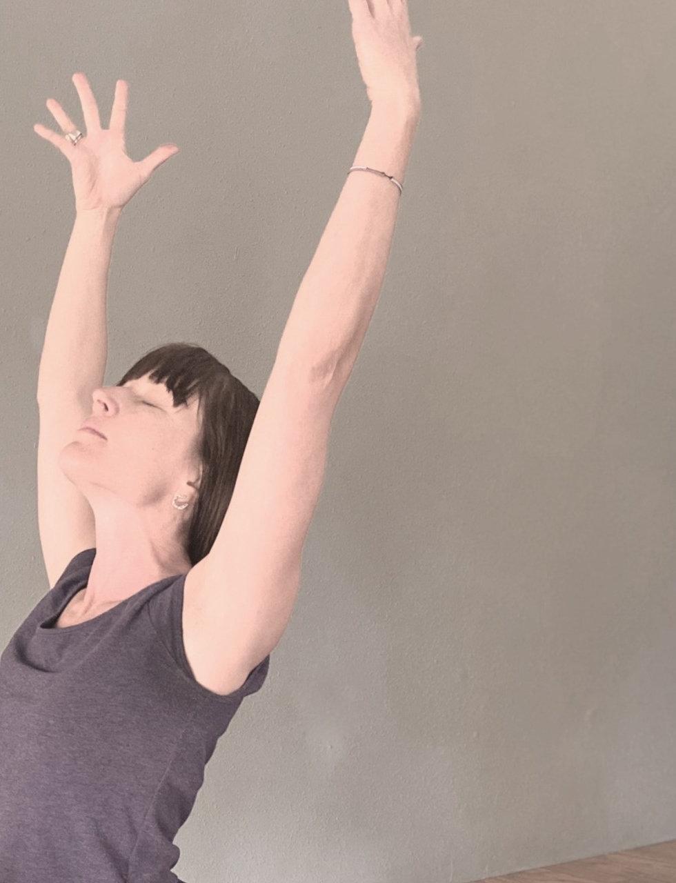 Ashleigh Beyer doing Yoga