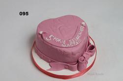 торт у вигляді серця