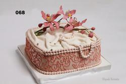 торт з орхідеями