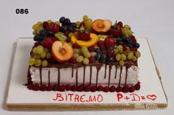 торт із свіжими фруктами