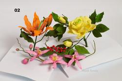 букет цукрових квітів