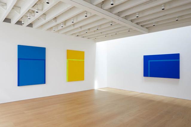 (L-R) Blues, 1991; Two Yellows, 1992; Horizontal,1992