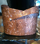 Distressed Copper Cuff with Sterling Silver Rivet --$150