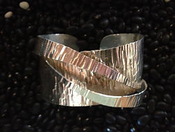 "2"" Sterling Silver Cuff -- Made to Order $250"