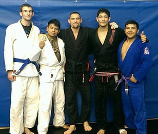celebrating at Professor Jose's black belt ceremony