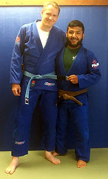 Brian getting promoted to Blue Belt