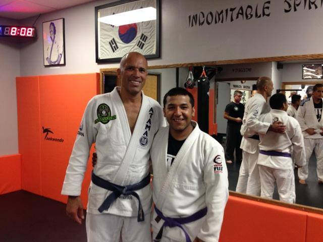 Royce Gracie and coach Edgar