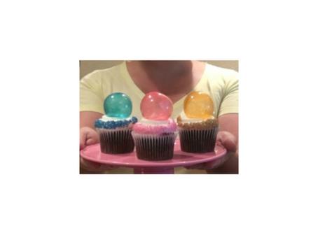 Cupcake Bolha Colorida
