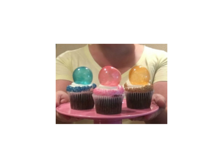 Cupcake Bolha Colorida