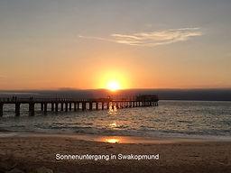 Sonnenuntergang in Swakopmund