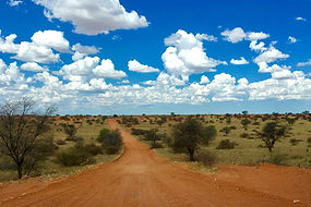 Straße in der Kalahari