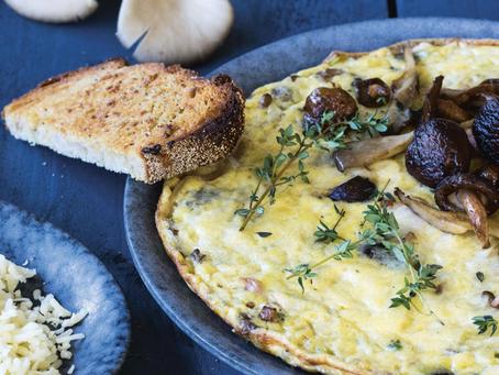 Omelet met paddenstoelen
