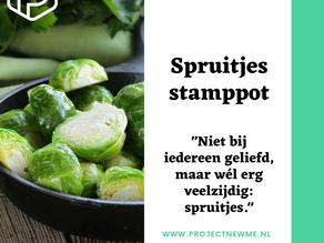 Spruitjesstamppot met noten