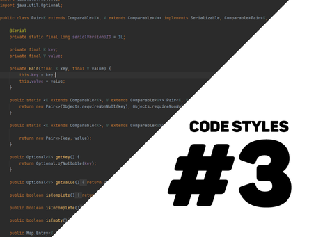 different styles when coding #3