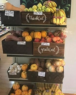 organic produce, supplements, vitamins