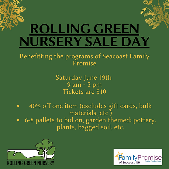 Rolling Green Nursery Sale Day 6-3-21.pn