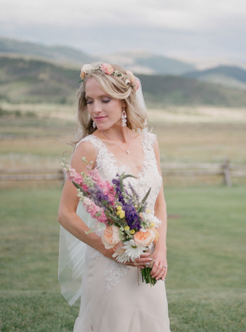 boho bride colorado destination wedding