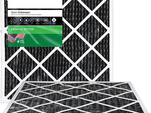 Active Carbon Pleated MERV 8 Pre- Filter (Set of two)