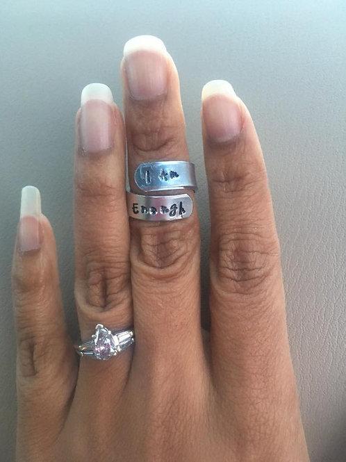 Handmade, Adjustable, Cuff Rings