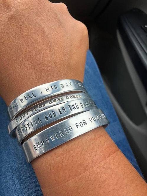 Handmade, Adjustable, 3/8 in Cuff Bracelets