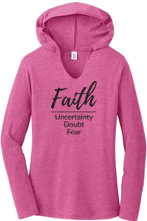 FAITH long sleeve hooded shirt