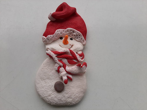 "Imán de Nevera Navideño ""Frosty the Snowman"""