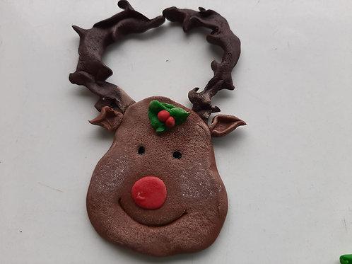 "Imán de Nevera Navideño ""Rudolf"""