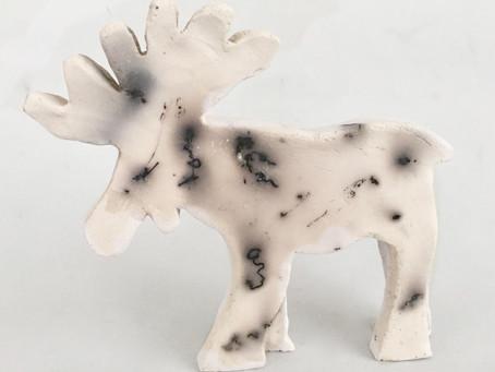 Raku - Smoking Technique - med elghår (Moose Hair)