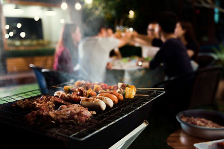 dinner-party-barbecue-and-roast-pork-at-