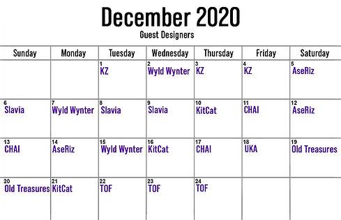 Advent calendar 2020 - Guests